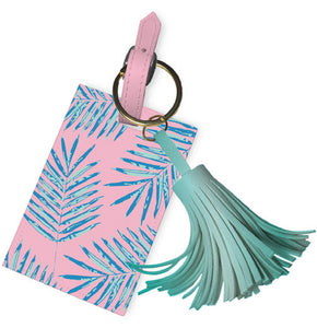 Luggage Tag Tassle- Palm Leaves