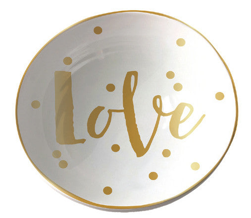 Love Bowl Trinket Tray - Jewelry Tray