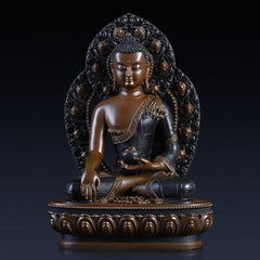 Pure copper Buddha statue