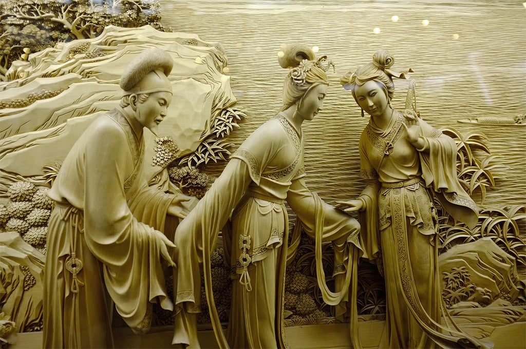 Wood-dongyang sculpture