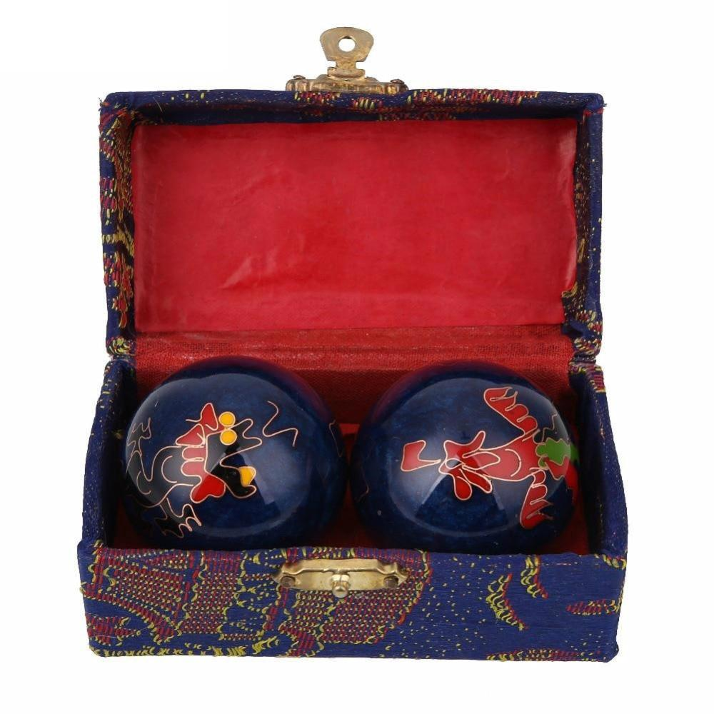 Dragon Pattern Qi Gong Balls - Chinese Health Balls (3 colors) Asian Artisan Qi-Gong Balls