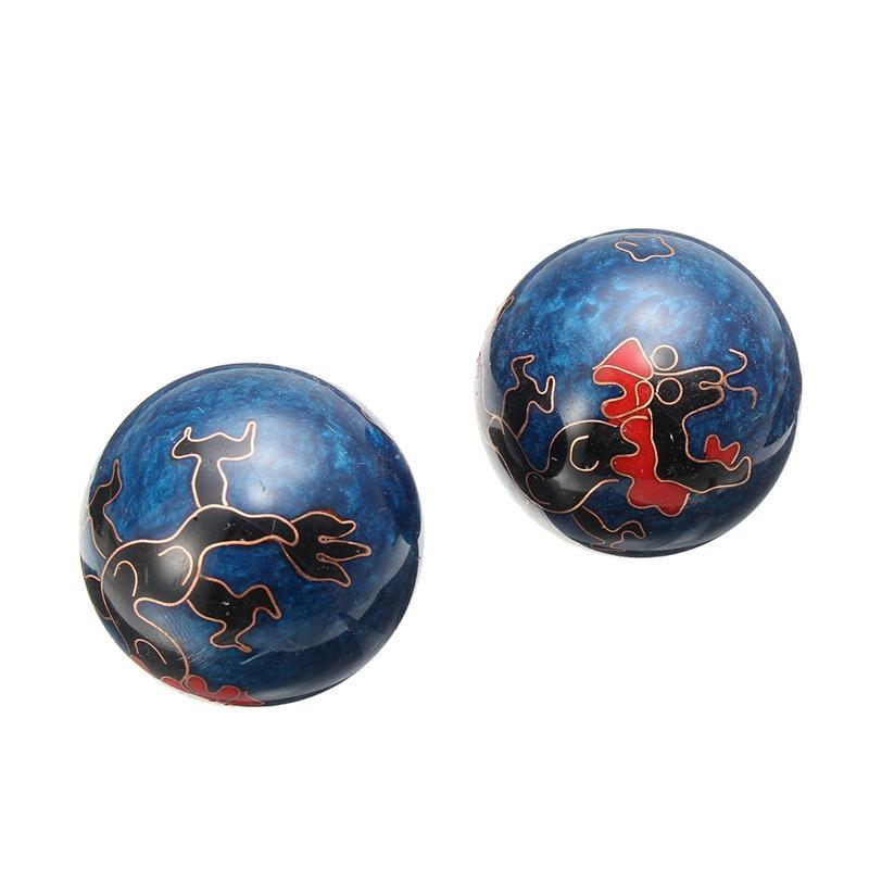 Qi Gong Balls - Chinese Steel Health Balls (Dragon Pattern) Qi-Gong Balls Asian Artisan