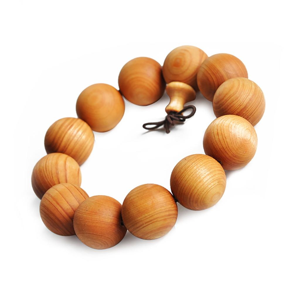 Mala bracelet in matt pine wood Malas bracelets Asian Artisan