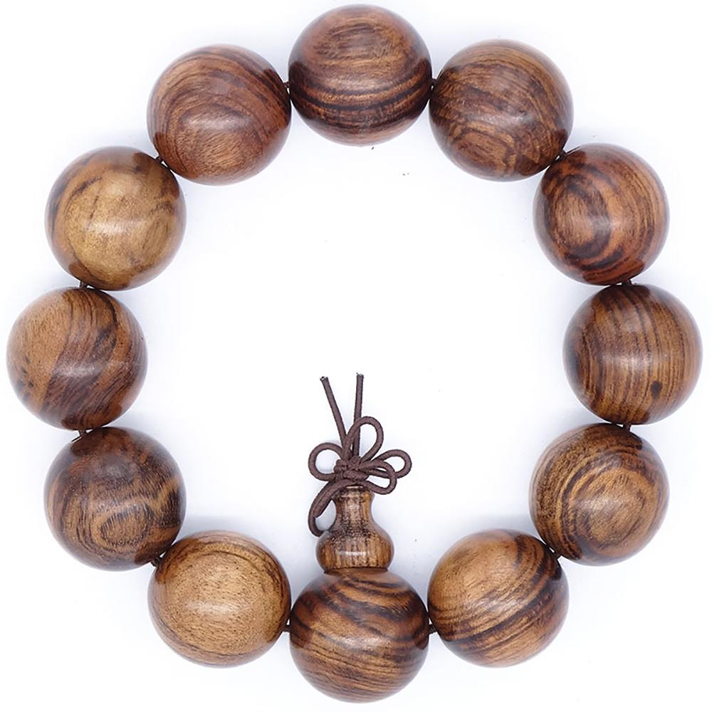 Pear wood mala bracelet Asian Artisan Malas Bracelets