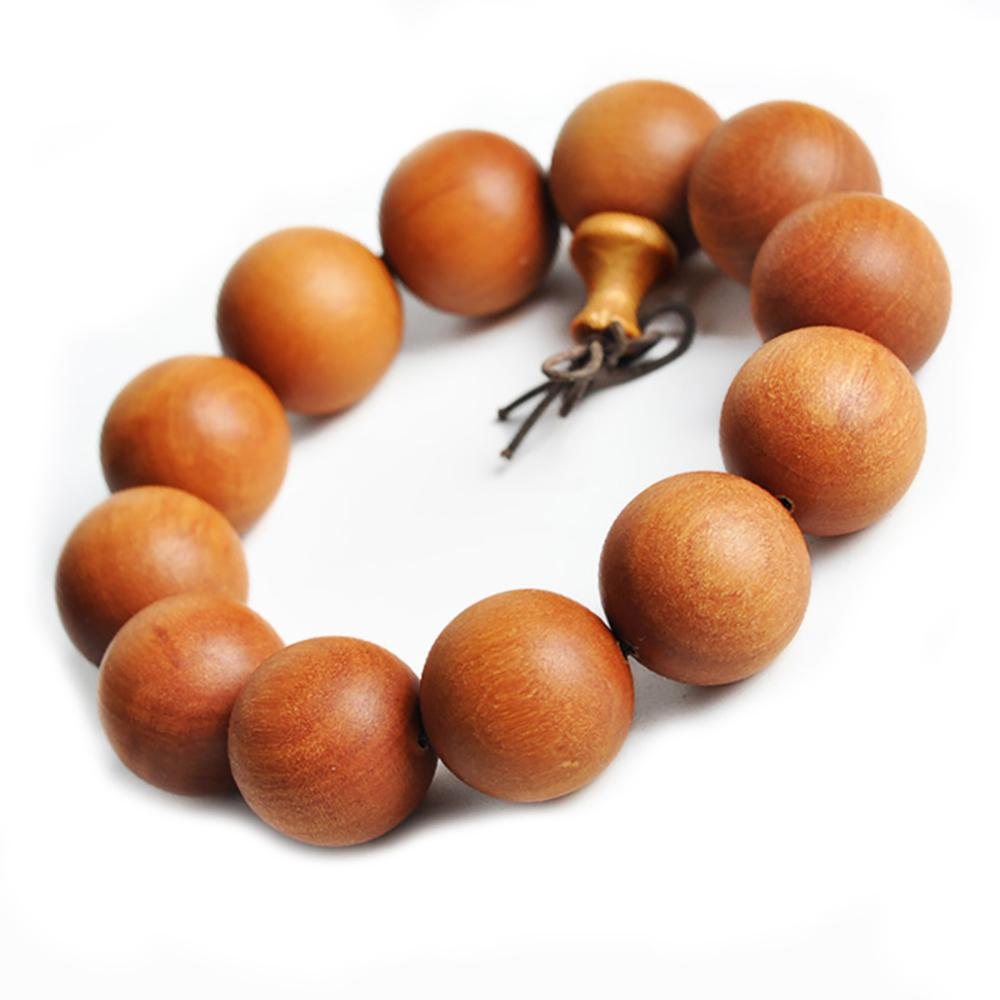 Brown sandalwood mala bracelet Asian Artisan Malas Bracelets