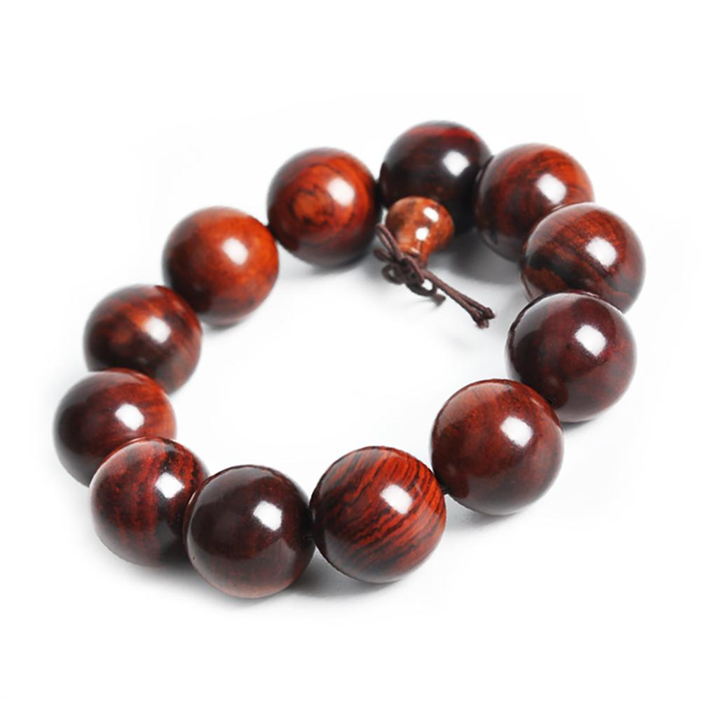 Red sandalwood mala bracelet Asian Artisan Malas Bracelets