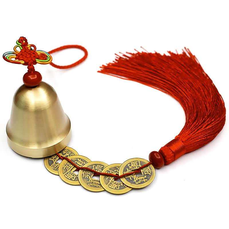 Wind Bell Feng Shui Asian Craftsman Red Bell