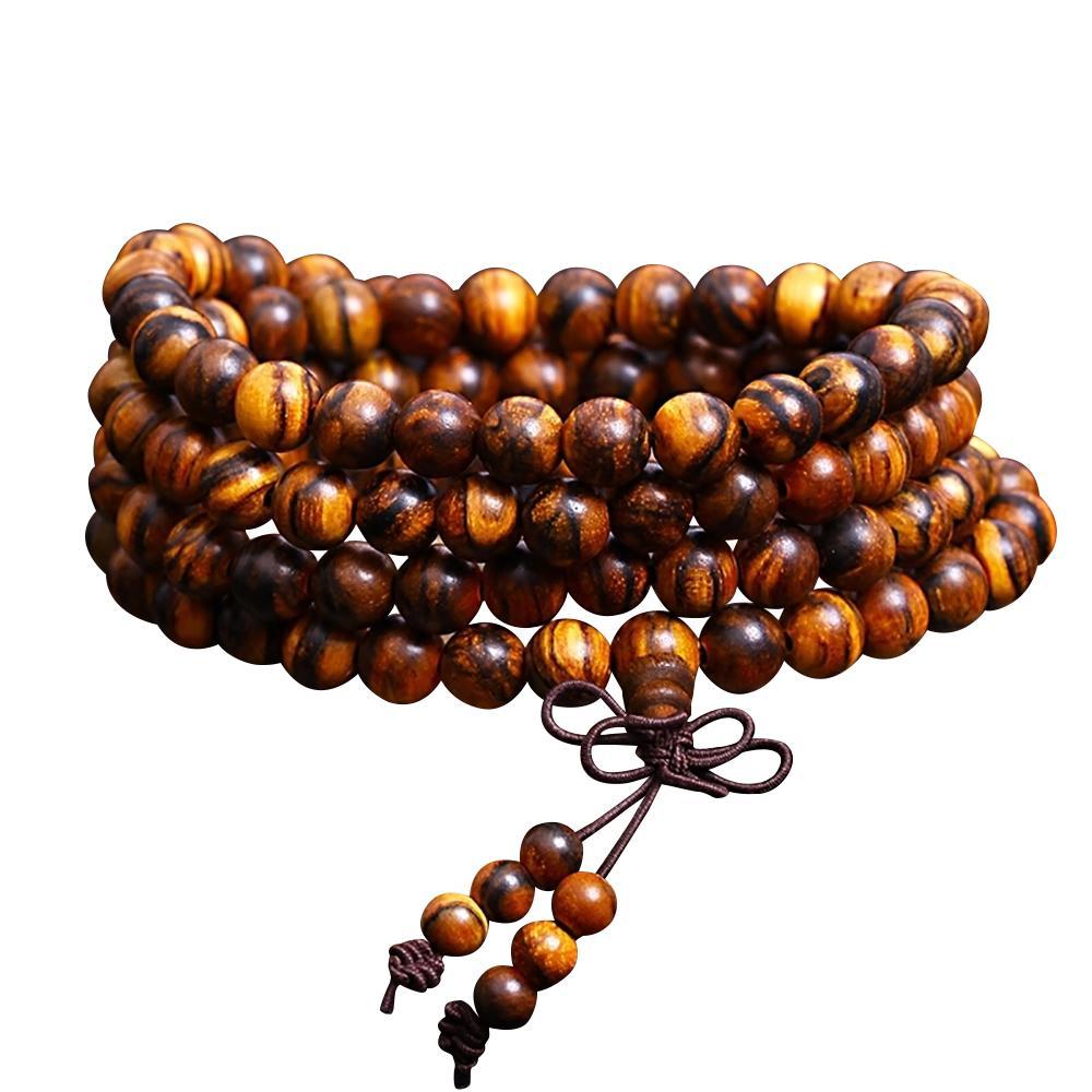 Mala necklace in oud wood Mala necklaces Asian craftsman