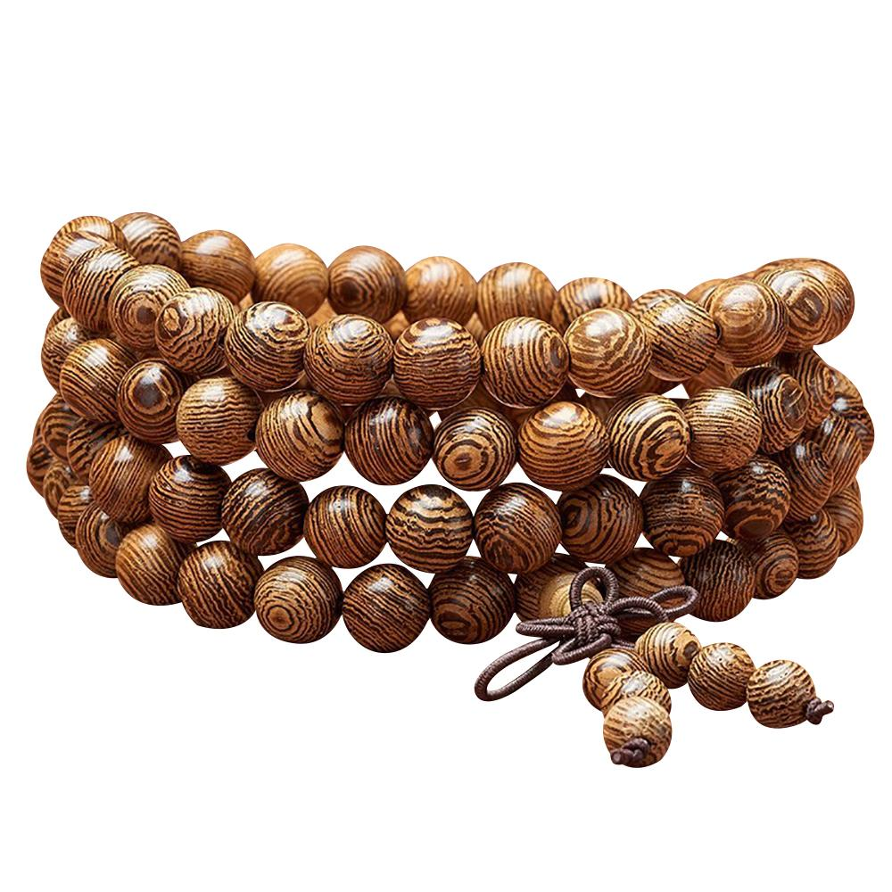 Mala necklace in wenge wood Malas necklaces Asian craftsman