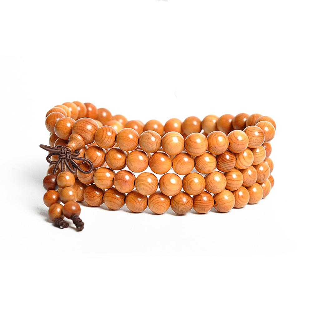 Collier mala en bois d'if