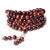 Red tiger eye stone mala necklace Asian Artisan Malas necklaces