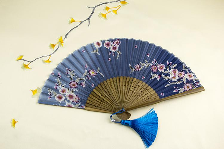 Chinese FanTail Chinese Artisan of Asia Purple Flowers