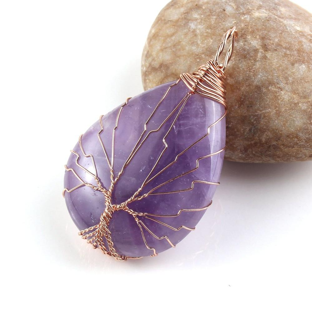 Tree of Life pendant in Amethyst Pendants - Asian Artisan Amulets