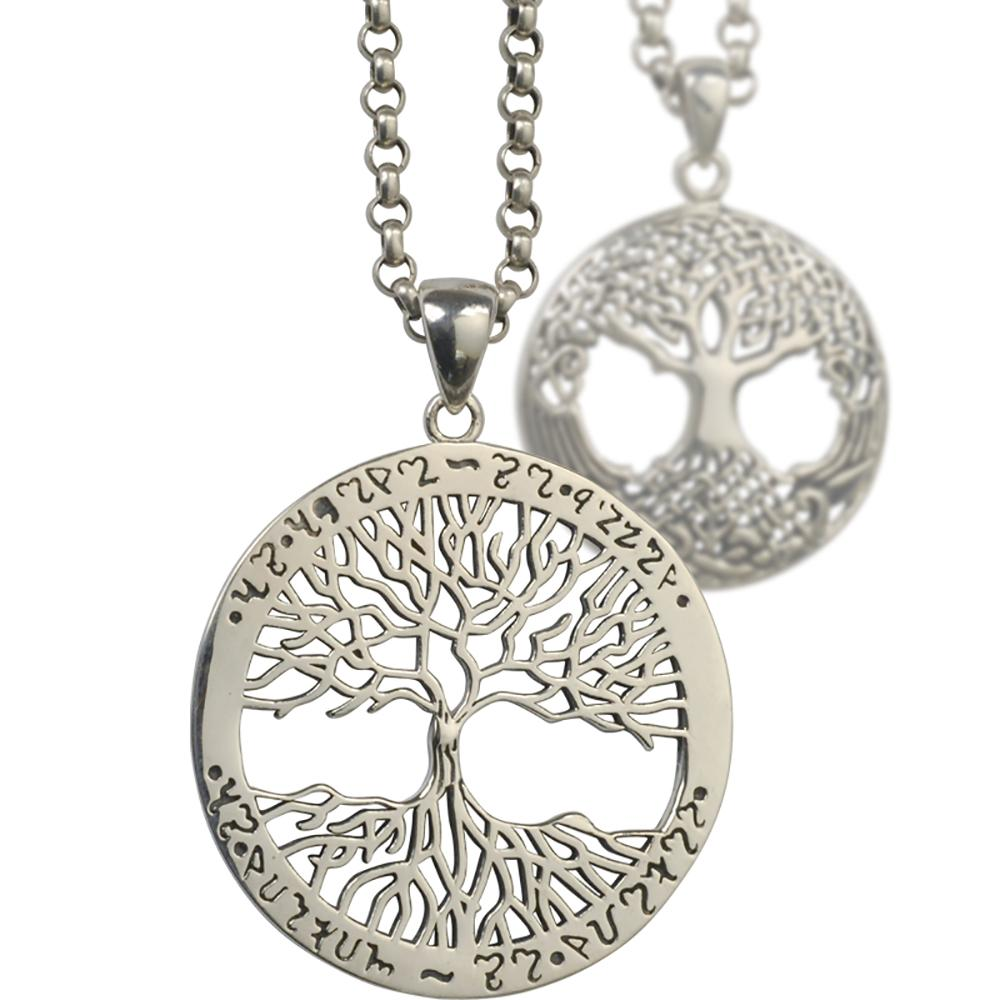Tree of life pendant in 925 silver Chakras & Reiki Artisan from Asia