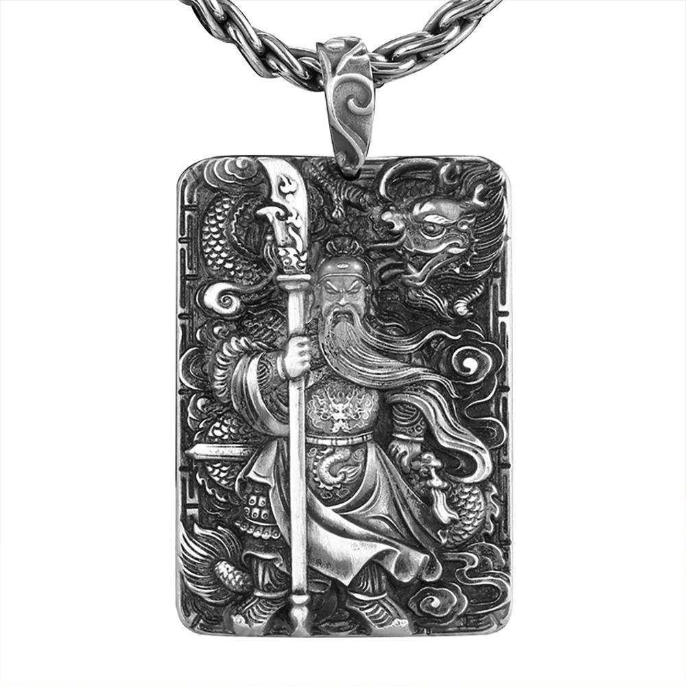 God of War Guanyu Pendant in 999/1000 Silver Pendants & Amulets Craftsman from Asia