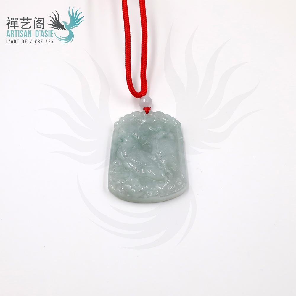 Zodiac Signs pendant in Natural Jade Pendants - Asian Artisan Amulets
