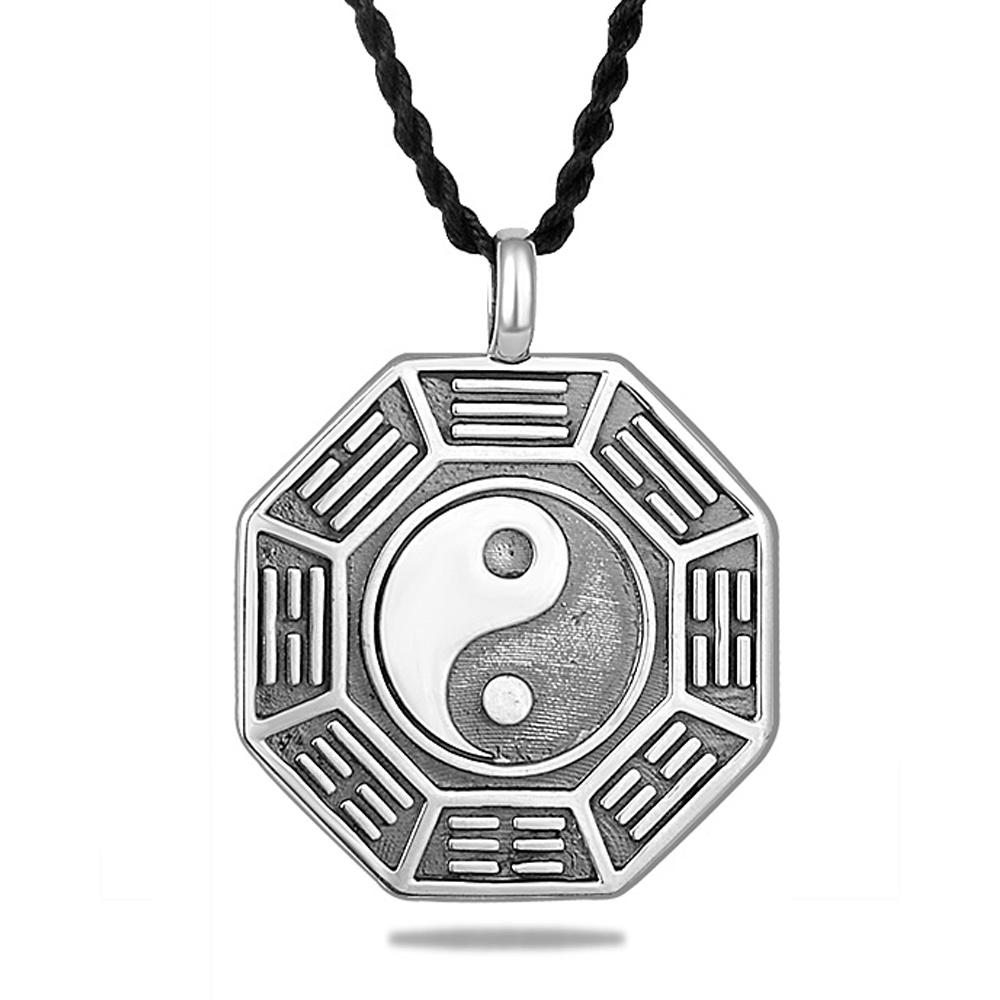 Yin pendant - Yang in Pure Silver 990/1000 Pendants - Asian Artisan Amulets