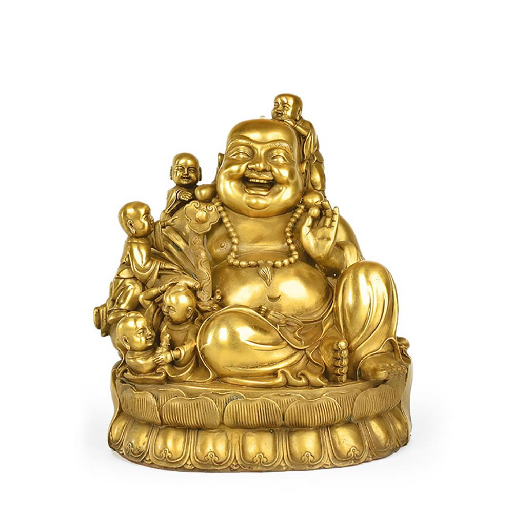Statue Buddha laughing Maitreya copper or yellow copper Statues Buddha Craftsman of Asia