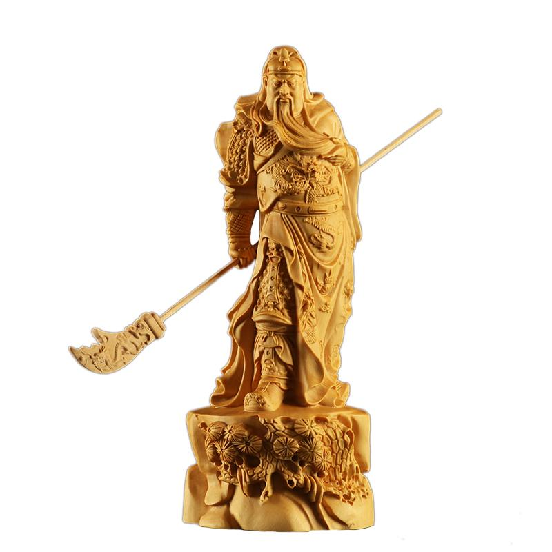 Guanyu warrior statue in boxwood Asian statues Asian craftsman