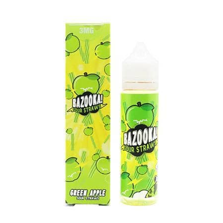 Bazooka Sour Straws Green Apple  Vapeluv Vapeshop