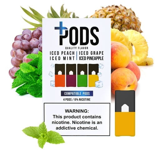 Plus Pods Iced Multipack Juul Compatible Pods  Vapeluv Vapeshop