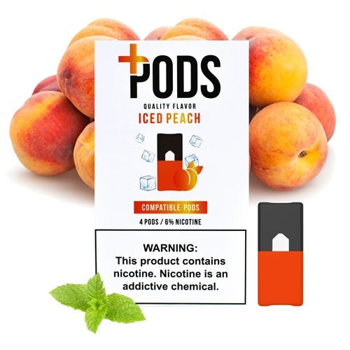 Plus Pods Iced Peach Juul Compatible Pods