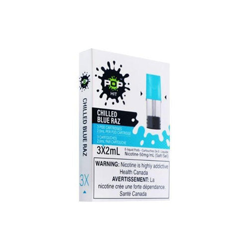 Pop Chilled Blue Raz Stlth Compatible Pods