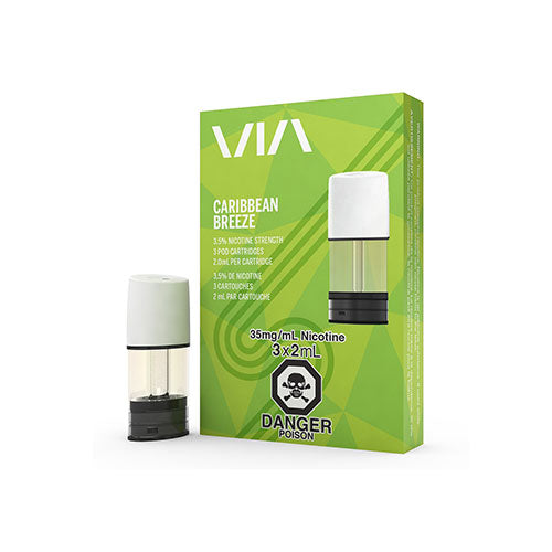 Stlth VIA Caribbean Breeze Replacement Pods Vapeluv Vapeshop Toronto, Etobicoke, North York