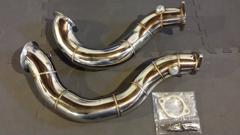 "VRSF 3"" Cast Stainless Steel Catless Downpipes V2 - N54 135i/335i/335xi/335is"