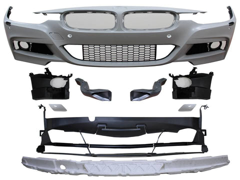 BMW F30 M Tech Style Front Bumper - 2013+ 3 Series Sedan 320i 328i 335i