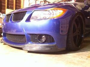 E90 Carbon Fiber V Style Front Lip for M3 Replica Front Bumper