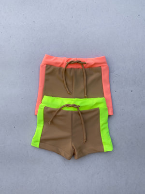 SUNNY Boys Shorts (neon pink & nude)