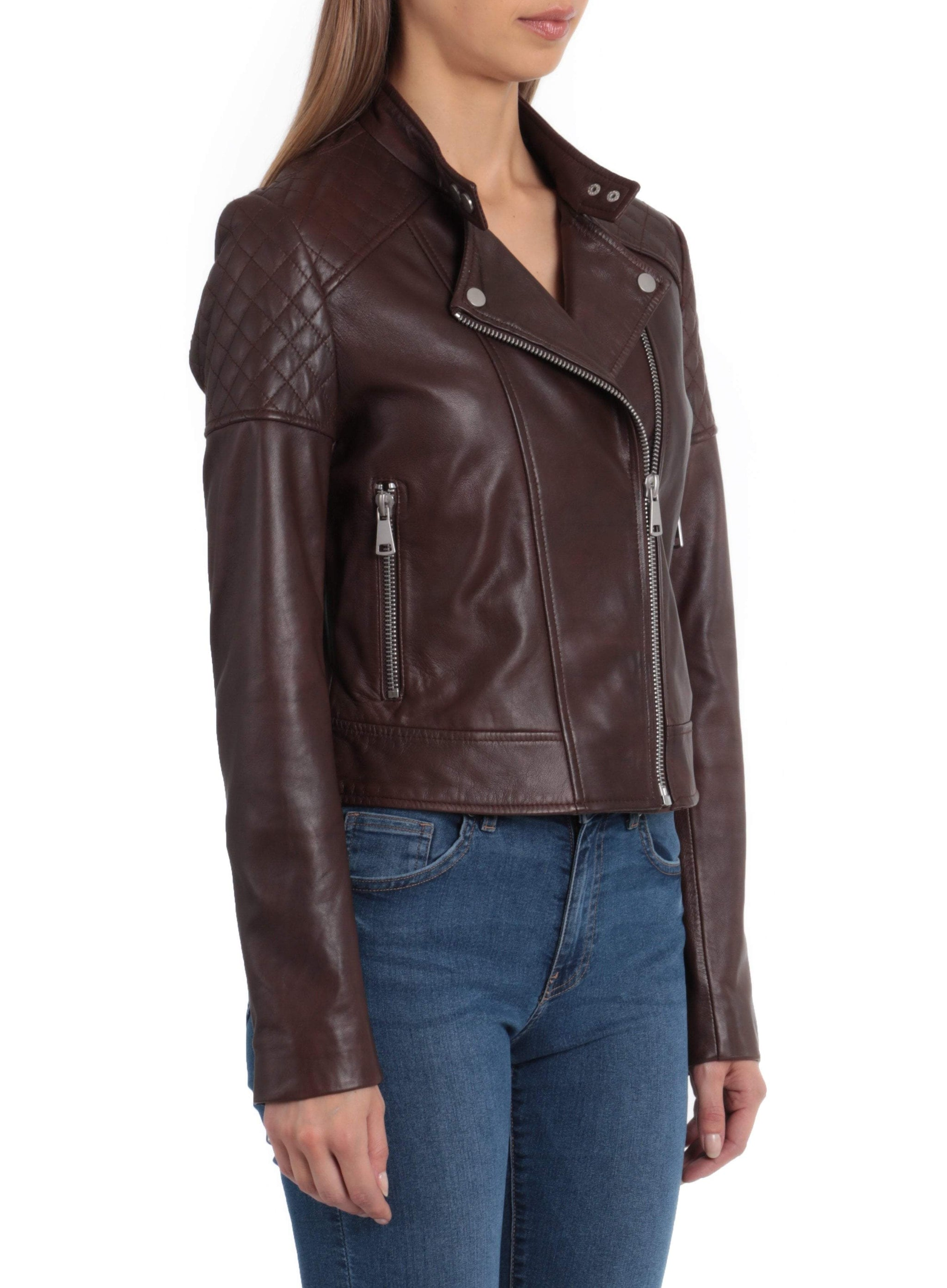 Quilted Leather Moto Jacket - BAGATELLE.CITY Shop Leather | Suede | Jackets