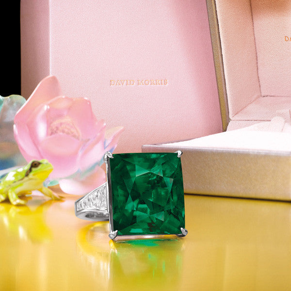 David Morris 22.22 Carat Emerald Ring Sold for 4m