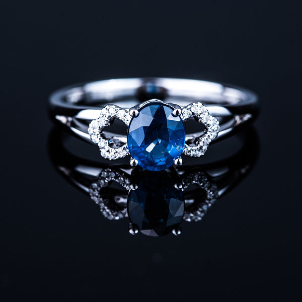 18K White Gold Sapphire (0.82ct) Ring