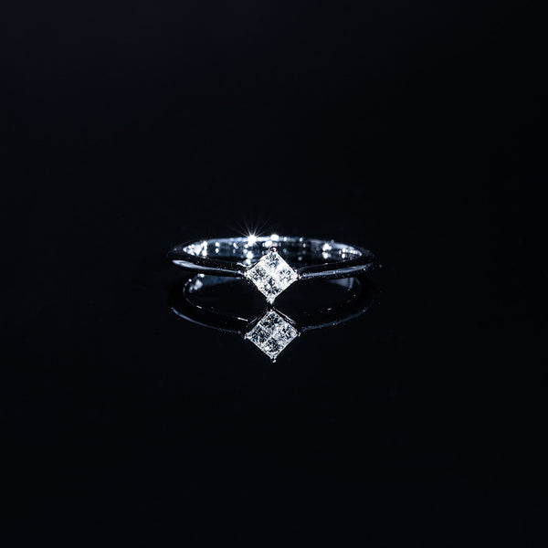 Squares - 18K White Gold Diamond Ring