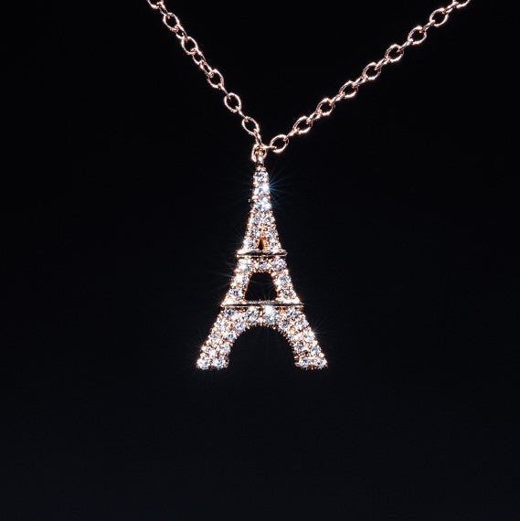 Paris - 18K Rose Gold Diamond Necklace