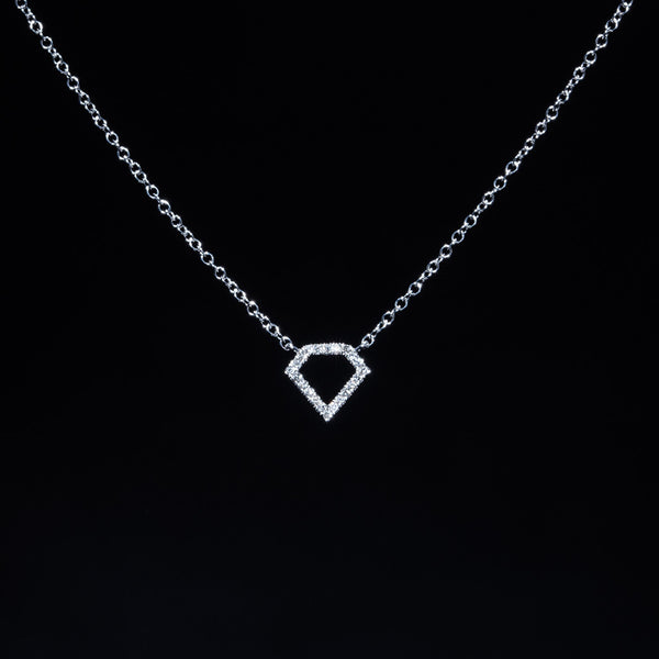 Diamond Diamond - 18K White Gold Diamond Necklace