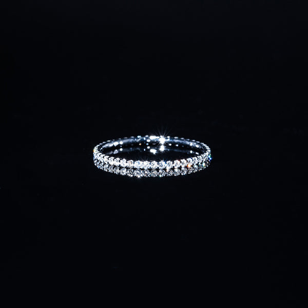 18K White Gold Diamond Line Ring