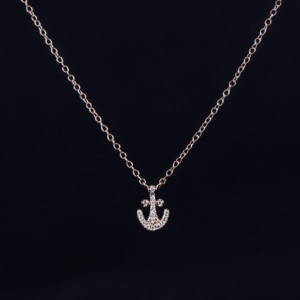 Anchor - 18k Rose Gold Necklace