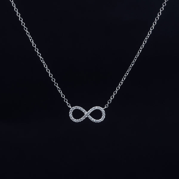 Infinity - 18K White Gold Diamond Necklace