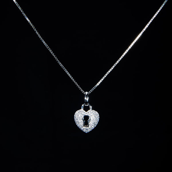 Locked Heart Pendant (Necklace not included)
