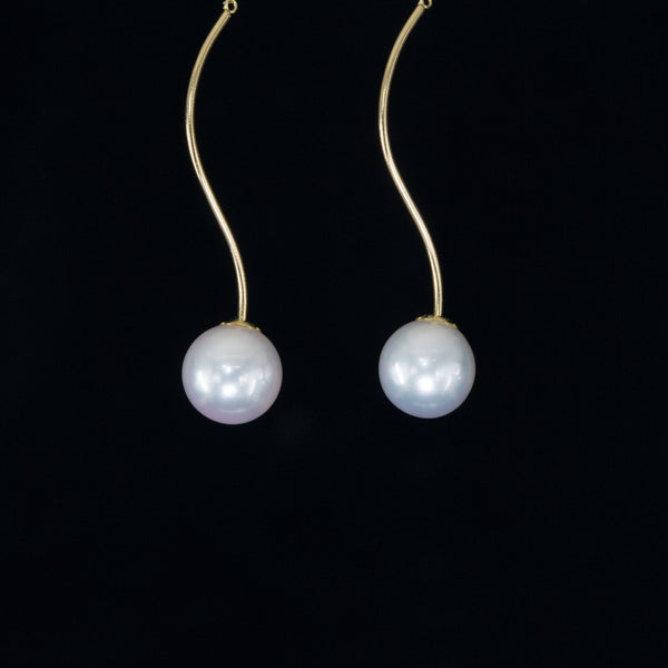 Treasure of the Sea and Sky - Akoya Pearl Earrings