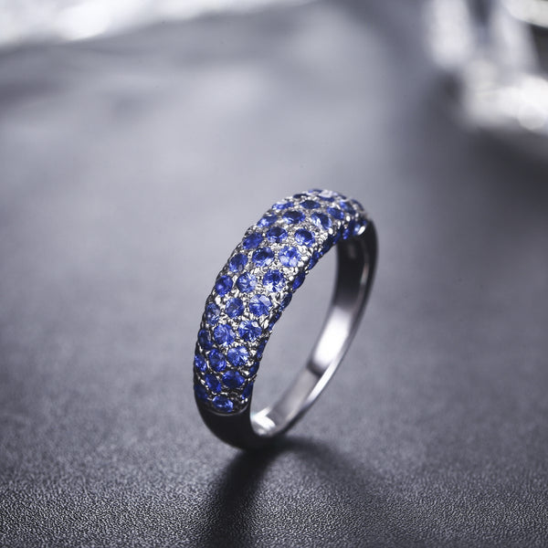 Sapphire Pave Ring  [18K]