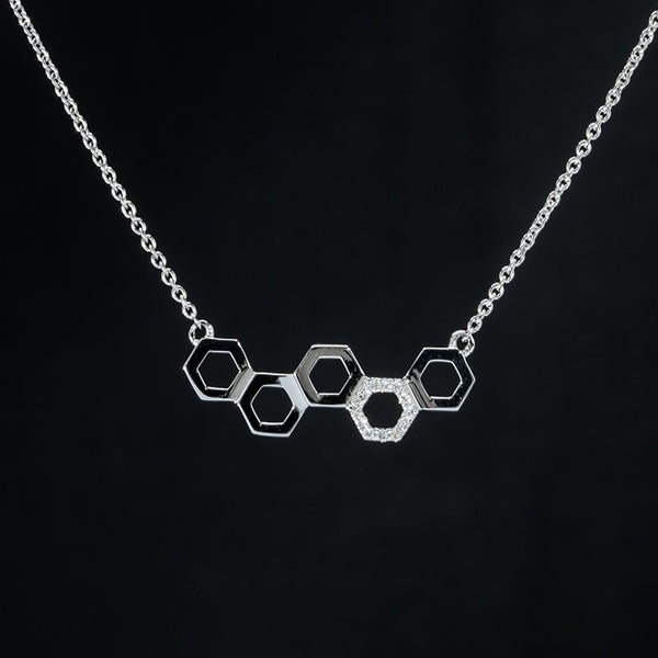 Molecule Diamond Necklace