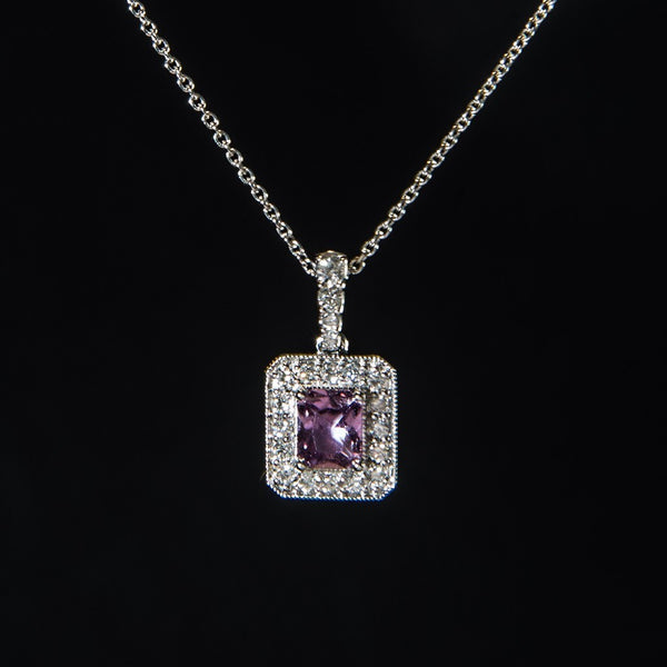 Beautiful Rare Unheated Sapphire Pendant - 18K Pink Sapphire Pendant (necklace not included)