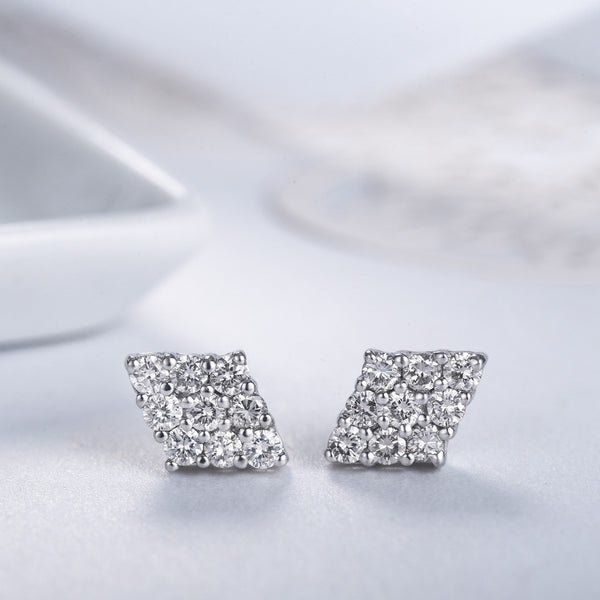 Monument Diamond Earrings [18K]