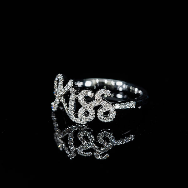 Kiss - 14k White Gold Diamond Ring