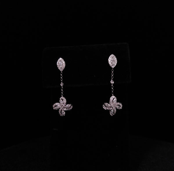 Royal Kisses - 18k Diamond Drop Earrings