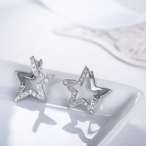 Centauri Diamond Earrings [18K]